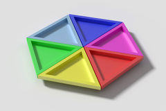 Colorful triangles on white background Stock Photography