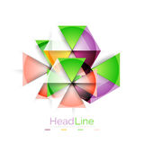 Colorful triangles on white background Stock Image