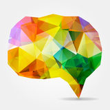 Colorful triangular geometric speech bubble Stock Photos