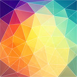 Colorful triangular pattern  design Royalty Free Stock Photo