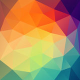 Colorful triangular pattern design Royalty Free Stock Photos