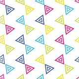Colorful Triangular seamless repeat pattern on white background stock illustration