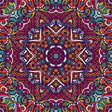 Colorful Tribal Ethnic Star Festive Abstract Floral Geometric Vector Pattern royalty free stock photography
