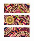 Colorful Tribal Ethnic Theme Banner Design Royalty Free Stock Images