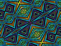 Colorful Tribal Geometric Pattern Stock Photography
