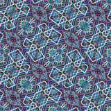 Colorful Tribal Geometric Seamless Pattern royalty free illustration