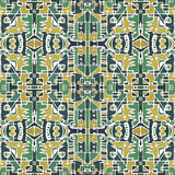 Colorful Tribal Geometric Seamless Pattern Royalty Free Stock Photography