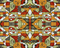Colorful Tribal Geometric Seamless Pattern Stock Photography