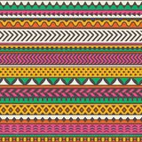 Colorful tribal print. Vector seamless background. Royalty Free Stock Photos