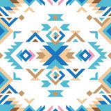 Colorful tribal seamless pattern Stock Photos