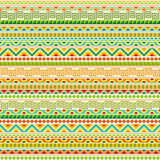 Colorful Tribal Seamless Pattern. Repeatable geometric ethnic ornament festive colors. Abstract Mexican motif. Fancy multicolored texture Royalty Free Stock Photography