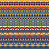 Colorful tribal vintage ethnic seamless pattern. Geometric print, fabric, cloth design, wallpaper, wrapping vector illustration