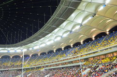 Colorful tribunes on National Arena stadium Royalty Free Stock Image