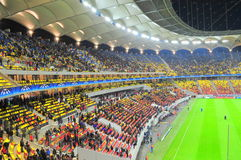 Colorful tribunes on National Arena stadium Royalty Free Stock Images