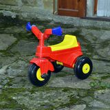 Colorful tricycle for children royalty free stock photo
