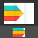 Colorful trifold template illustration design Stock Images