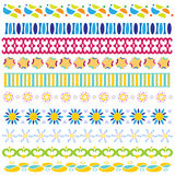 Colorful trim or border collection Stock Photos
