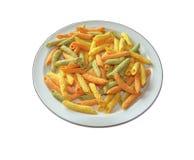 Colorful trio of pasta Stock Image