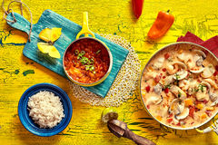 Colorful tropical Brazilian seafood stew Stock Photo