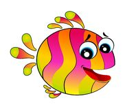 colorful tropical fish stock illustration
