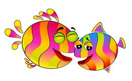 Colorful tropical fish Stock Image