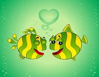 Colorful tropical fish in love Stock Photo