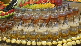 Colorful Tropical Fruit wedding Buffet stock video