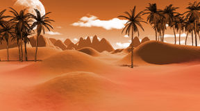 Colorful tropical landscape Royalty Free Stock Photo