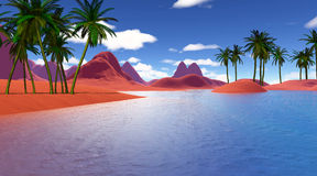 Colorful tropical landscape Royalty Free Stock Images