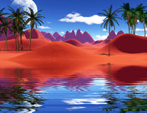 Colorful tropical landscape Royalty Free Stock Photography