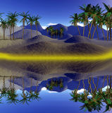 Colorful tropical landscape Royalty Free Stock Photos