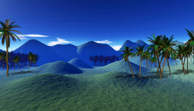 Colorful tropical landscape Stock Photography