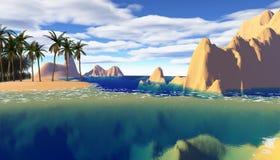 Colorful tropical landscape Stock Images