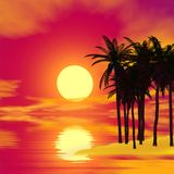 Colorful tropical landscape Stock Photo