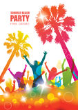 Colorful tropical party banner. Royalty Free Stock Photos