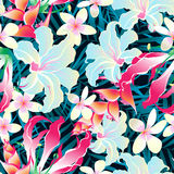 Colorful tropical seamless pattern royalty free illustration