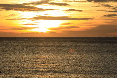 Colorful tropical sunset over the sea Royalty Free Stock Images