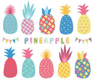 Free Colorful Tropicana Pineapple Elements Stock Photo - 117323010