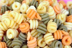 Colorful trottole pasta Stock Photo