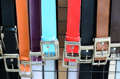 Colorful trouser belts Royalty Free Stock Image