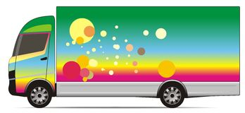 Colorful truck. A truck illustration with bright colors Royalty Free Stock Images