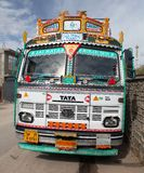 Colorful truck in Indian Himalayas Royalty Free Stock Image