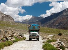 Colorful truck in Indian Himalayas Stock Image