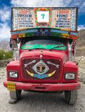 Colorful truck in Indian Himalayas Royalty Free Stock Photo