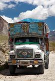 Colorful trucks brand TATA in Indian Himalayas Royalty Free Stock Photography