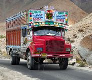 Colorful trucks brand TATA in Indian Himalayas Stock Photography