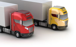 Colorful trucks. Isometric view Stock Photography