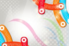Colorful tube on corner, abstract background Royalty Free Stock Photography