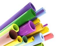 Colorful tubes. 3d illustration on white background stock illustration