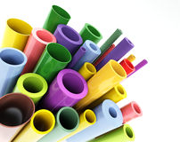 Colorful tubes Royalty Free Stock Image